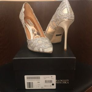 Badgley Mischka heels 9.5 - perfect for wedding
